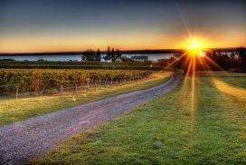 Finger Lakes Sonnenuntergang